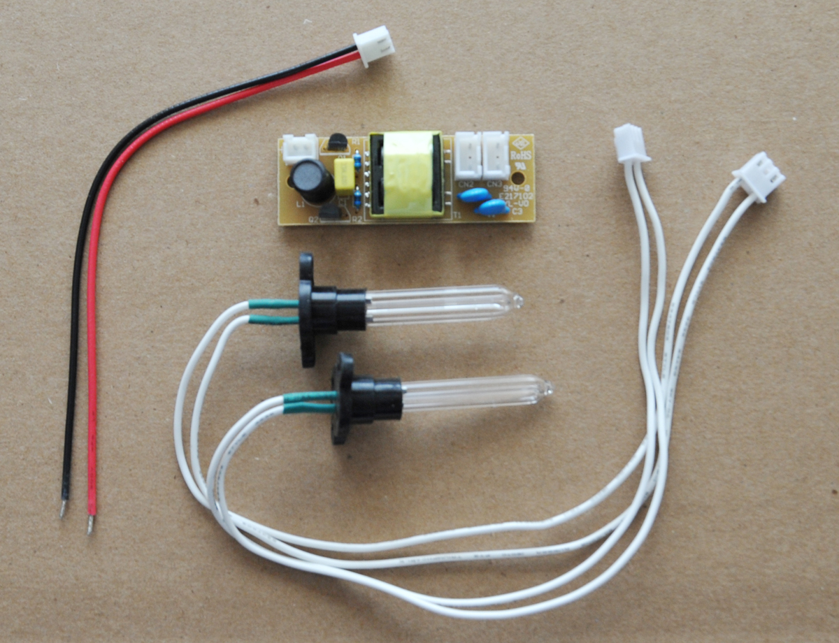 Germicidal Uv Lamps Dc Plug Wiring Assembly C 185nm Ushape 50x8x50mm Dual Lamp 5v Kit Includes 2pcs U Shape 50mm X 8mm With Attached High Voltage Wire And Connector